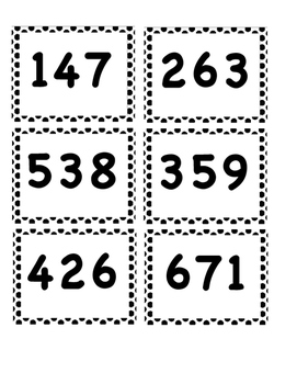 Number Name 3 Digit Match Up