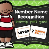 Number Name Recognition Memory Pairs Game
