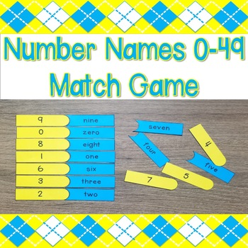Number Names 0-49 Match Game