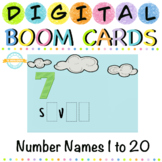 Number Names Spellings  1 to 20 - Boom Cards - Distance Learning