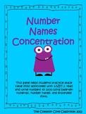 Number Names Concentration Game * 2nd Grade Math * 2.NBT.3