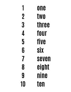 Number Names (Freebie)
