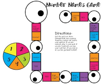 Number Names Game