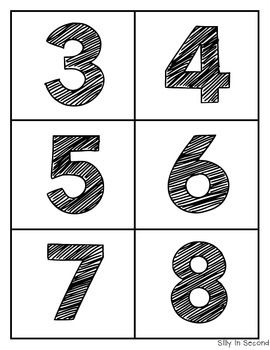 Number Names Match Game