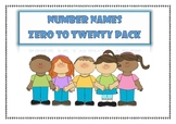 Number Names Zero to Twenty