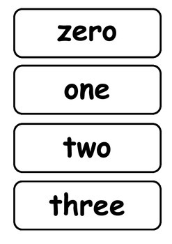 Number Names and Colours Flashcards