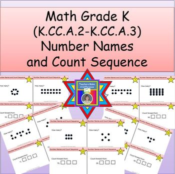 Number Names and Count Sequence Task Cards