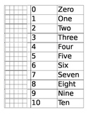 Number Names and Ten Frames