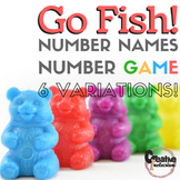 Number Names to 20! 6 different variations, GO FISH Game!