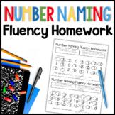 Number Naming Fluency Homework (English/Spanish)
