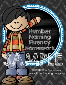 Number Naming Fluency Homework SAMPLE