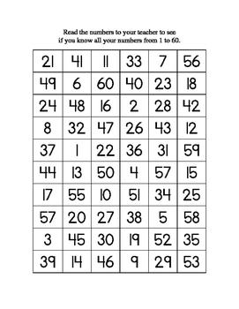 Number Naming Test