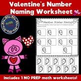Number Naming Valentines Worksheet