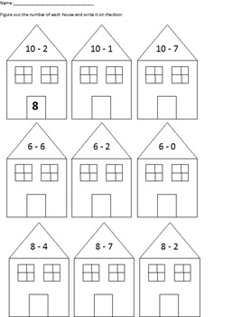 Number Neighborhood: An Addition and Subtraction Cut and Paste Packet