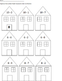 Number Neighborhood: An Addition and Subtraction Cut and P