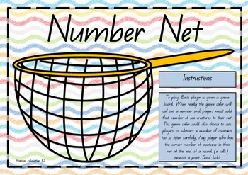 Number Net Addition Subtraction Counting Game