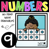 All About the NUMBER NINE ~ NO PREP Number Sense Kindergarten Math Printables