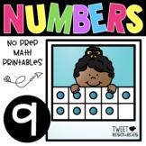 All About the NUMBER NINE ~ NO PREP Number Sense Kindergarten Math Printables