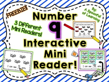 Number Nine Interactive Mini Readers- FREEBIE!