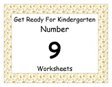 Number Nine Worksheet Pack