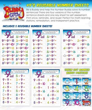 Number Nine's Reusable Number Sheets
