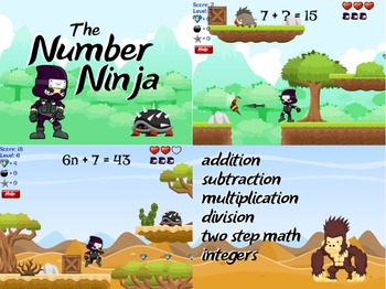 Number Ninja - Basic Math Facts (Playable at RoomRecess.com)