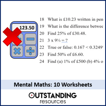 10 Excellent Mental Math Worksheets (+ answers)