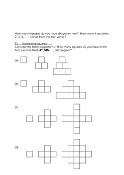 Number: Number Pattern Investigations (8 different ones)