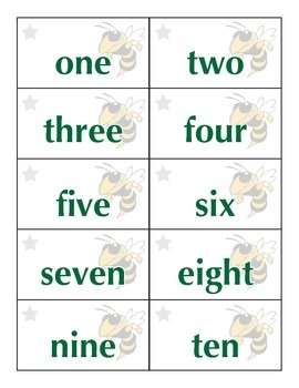 Number/Number Word Flashcards (0-20)