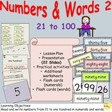 Number/Number Words 2 - Presentations, Lesson Plan Workshe