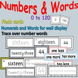 Number/Number Words Activities, Flashcards, Wall Display,