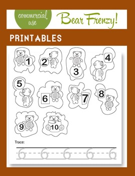 Numbers, Numbers, Numbers, ...and bears! Activities + Clip-arts (Commercial use)