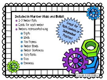 Number Nuts and Bolts Freebie
