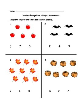Number Object Assessments