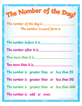 """Number Of The Day! - 8½"""" x 11"""""""