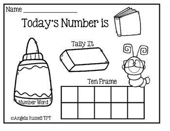 Number Of The Day - Activity Sheets