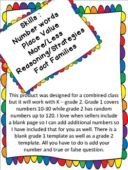 Number Of The Day  Math Work for Combined 1-2