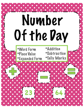 Number Of the Day Printable/ Daily Math Practice