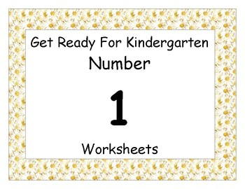 Number One Worksheet Pack