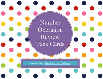 Number Operation Task Cards