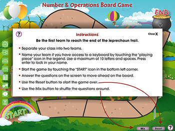 Number & Operations: Board Game - MAC Gr. 6-8