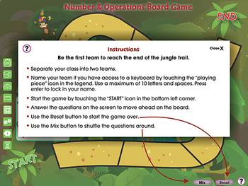 Number & Operations: Board Game - MAC Gr. PK-2