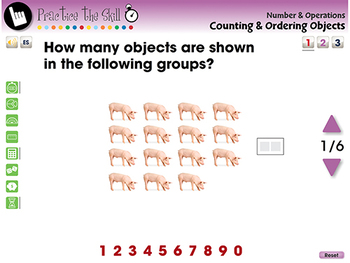 Number & Operations: Counting & Ordering Objects - Practice 1 - PC Gr. PK-2