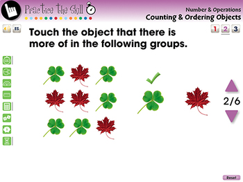 Number & Operations: Counting & Ordering Objects - Practice 2 - MAC Gr. PK-2