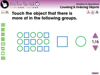 Number & Operations: Counting & Ordering Objects - Practice 2 - PC Gr. PK-2