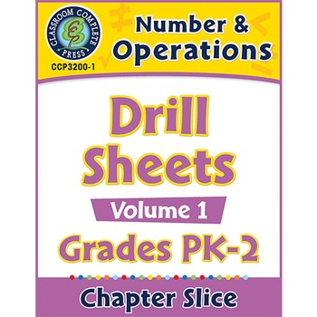 Number & Operations - Drill Sheets Vol. 1 Gr. PK-2