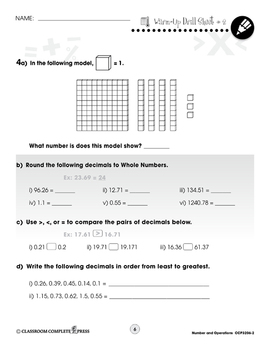 Number & Operations: Drill Sheets Vol. 2 Gr. 3-5