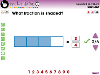 Number & Operations: Fractions - Practice the Skill 1 - PC Gr. PK-2