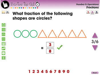 Number & Operations: Fractions - Practice the Skill 2 - MAC Gr. PK-2