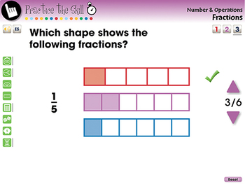 Number & Operations: Fractions - Practice the Skill 3 - NOTEBOOK Gr. PK-2